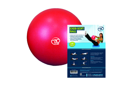 Red Squishy Ball : 9? Exer-Soft Ball ? Red ? Hope Pilates